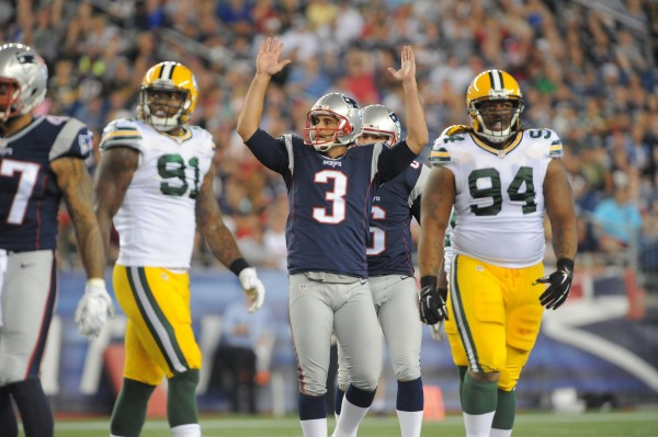Gostkowski makes a 56 yard field goal. (Photo By: Keith Nordstrom)