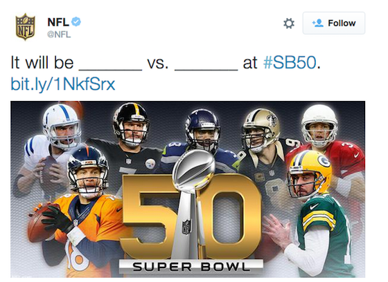 NFL trolling Tom Brady? Or honest mistake? (Photo from NFL's Official Twitter)
