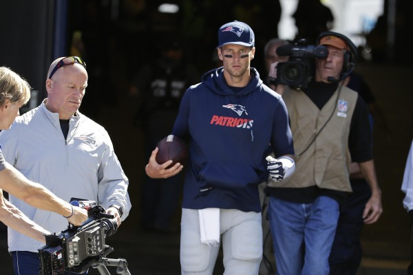QB Tom Brady was impressive during the Patriots win over Buffalo. (Photo By: AP, BILL WIPPERT)