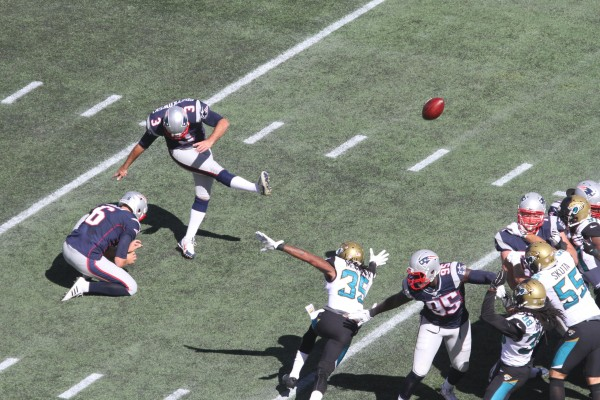 Kicker Stephen Gostkowski. (Photo By: ERIC ADLER)