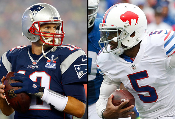 Check out the stats for Brady and Taylor below. (Photo From Bills.com)