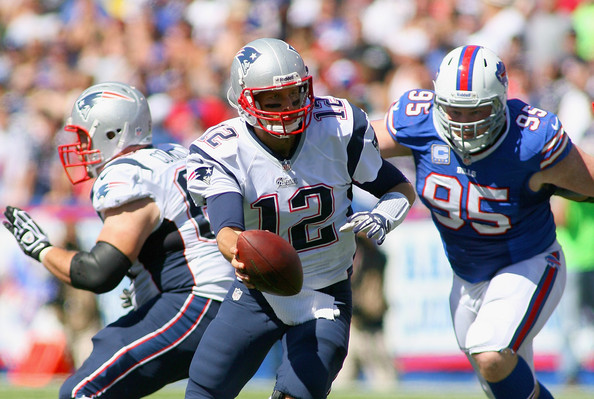 Tom Brady will need protection from his offensive line on Sunday to win. (Photo From Bills.com)