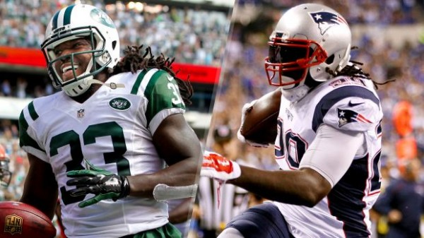 Chris Ivory (Left) and LeGarrette Blount (Right) will meet this Sunday. (Photo By: Rich Schultz/Joe Robbins / Getty Images