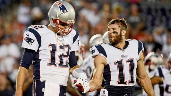 Julian Edelman and Tom Brady are two of the best Patriots right now with one awesome friendship. (Photo by Donald Miralle/Getty Images)