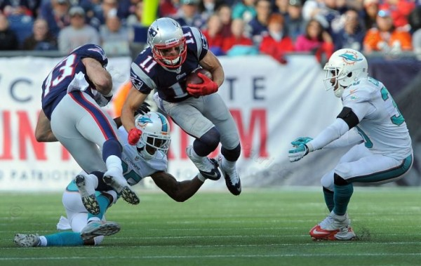 The WRs will play a big role for New England tomorrow night. (Photo By: Keith Nordstrom)
