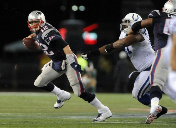 Protecting Tom Brady against the Colts will be a huge key for the Patriots. (Photo By: Keith Nordstrom)