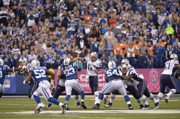 Colts fans booed Brady, but Pats fans were left chanting his name after a big win. (Photo By: Keith Nordstrom)