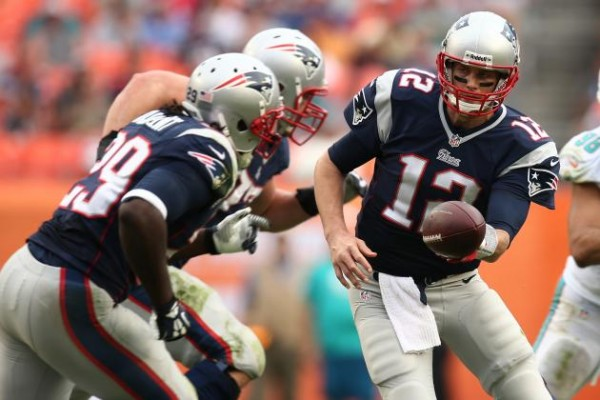 You may see a lot of Brady handing off to Blount tonight. (Photo By: J Pat Carter/Associated Press)