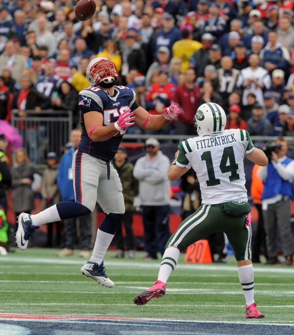 Rob Ninkovich batted four balls down today. (Photo By: Keith Nordstrom)
