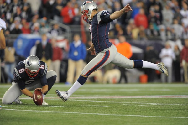 Stephen Gostkowski connects on two field goals. (Photo From: Patriots.com)