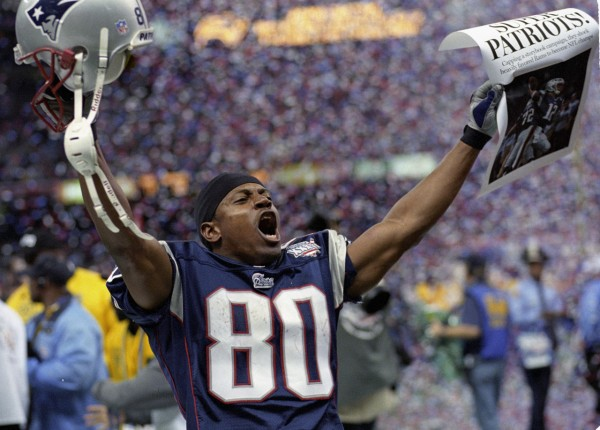 Troy Brown celebrates one of his three Super Bowl Wins. (Photo From NFL.com)