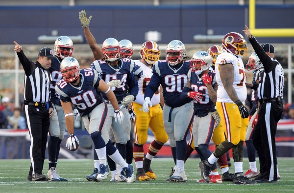 Patriots favored against the Giants. (Photo By: Keith Nordstrom)