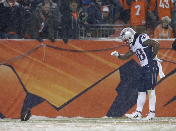 Brandon Bolden played his heart out last night. (Photo by: AP Photo/Joe Mahoney)
