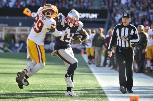 Brandon LaFell was money on the day, going over 100 yards receiving. (Photo By: Keith Nordstrom)