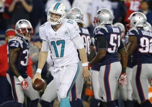 The Patriots smashed the Dolphins during the first meeting, but these Pats are limping to the finish line. (Photo From Miami Heald)