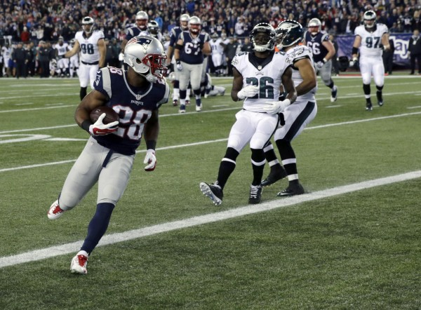 James White makes this list after a standout performance. (AP Photo/Charles Krupa)