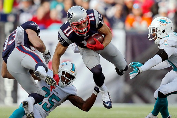 Julian Edelman may see the field this weekend. (Photo From: news.sportsinteraction.com)