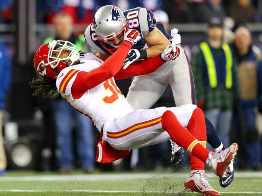 Danny Amendola fined for this hit above by the NFL. (Photo From Getty Images)