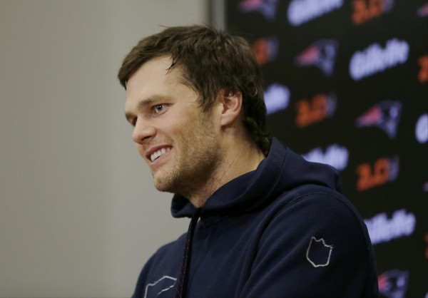 Tom Brady spoke to the media following the game. (Photo By: AP Photo/Charles Krupa)