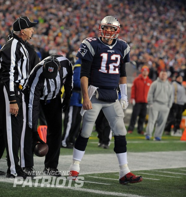 Tom Brady is going back to the AFC Title Game, which is nothing new. (Photo By: Keith Nordstrom)