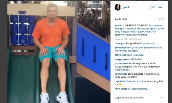 Screen shot of Gronk's Instagram video.  (Photo From FTW!)