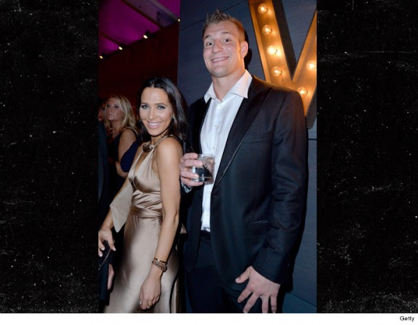 Gronk and Jordan Duffy -- a TV reporter, hit up the Oscar parties. (Photo Via TMZ Sports.com)