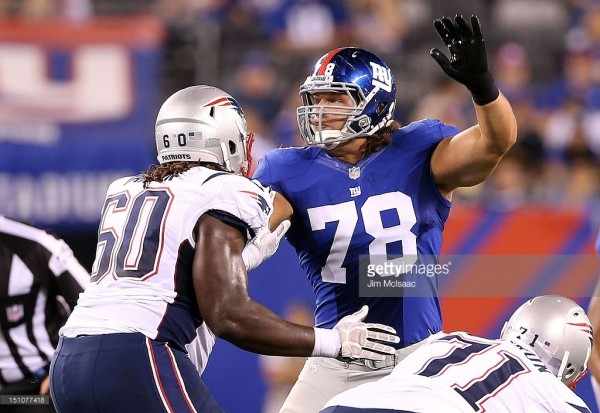 Former Giants DL Kuhn joins the Patriots. (Photo By: Jim McIsaac)